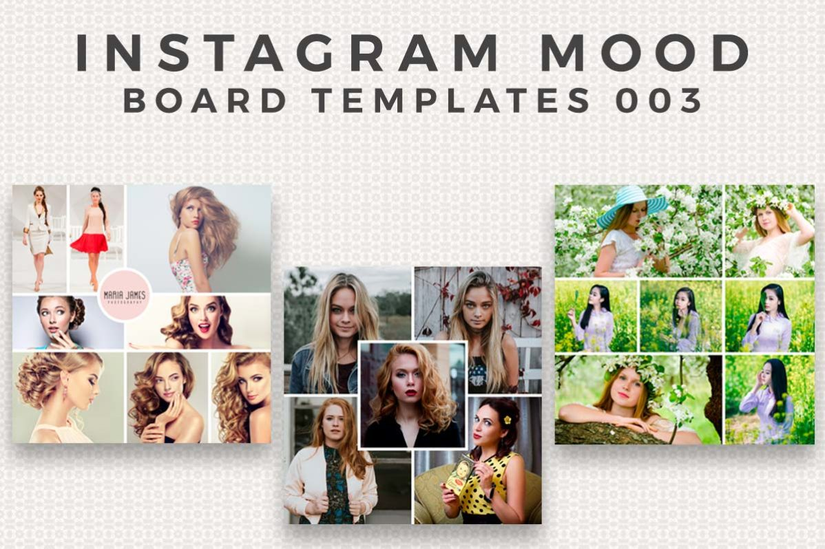 3 Free Instagram Mood Board Template FB3