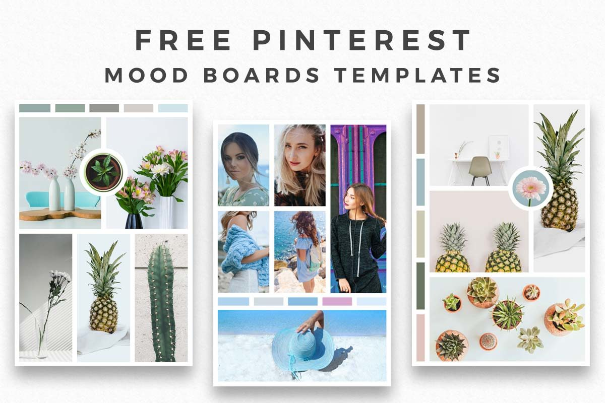 fashion mood board template - free pinterest mood board templates creativetacos