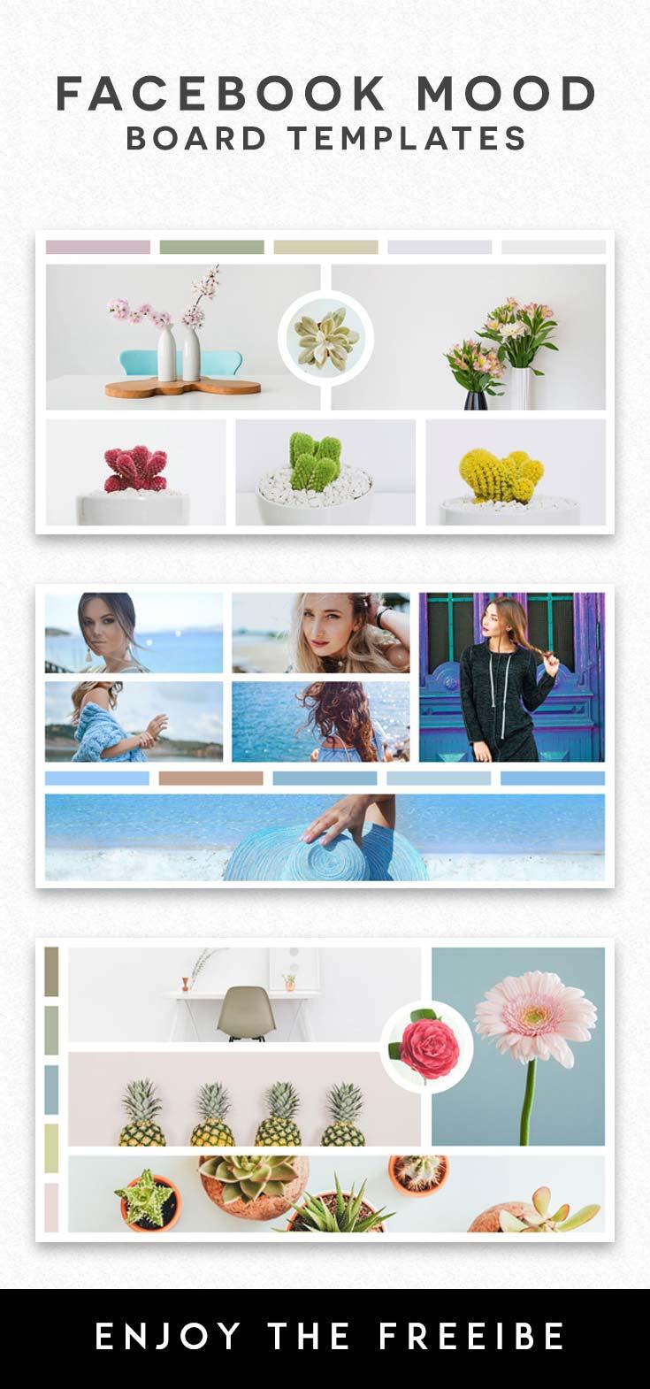 free facebook mood board templates creativetacos. Black Bedroom Furniture Sets. Home Design Ideas