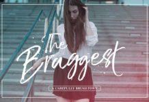 Free The Braggest Demo Brush Font