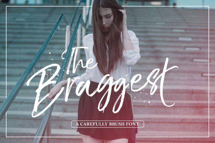 Free The Braggest Demo Brush Font