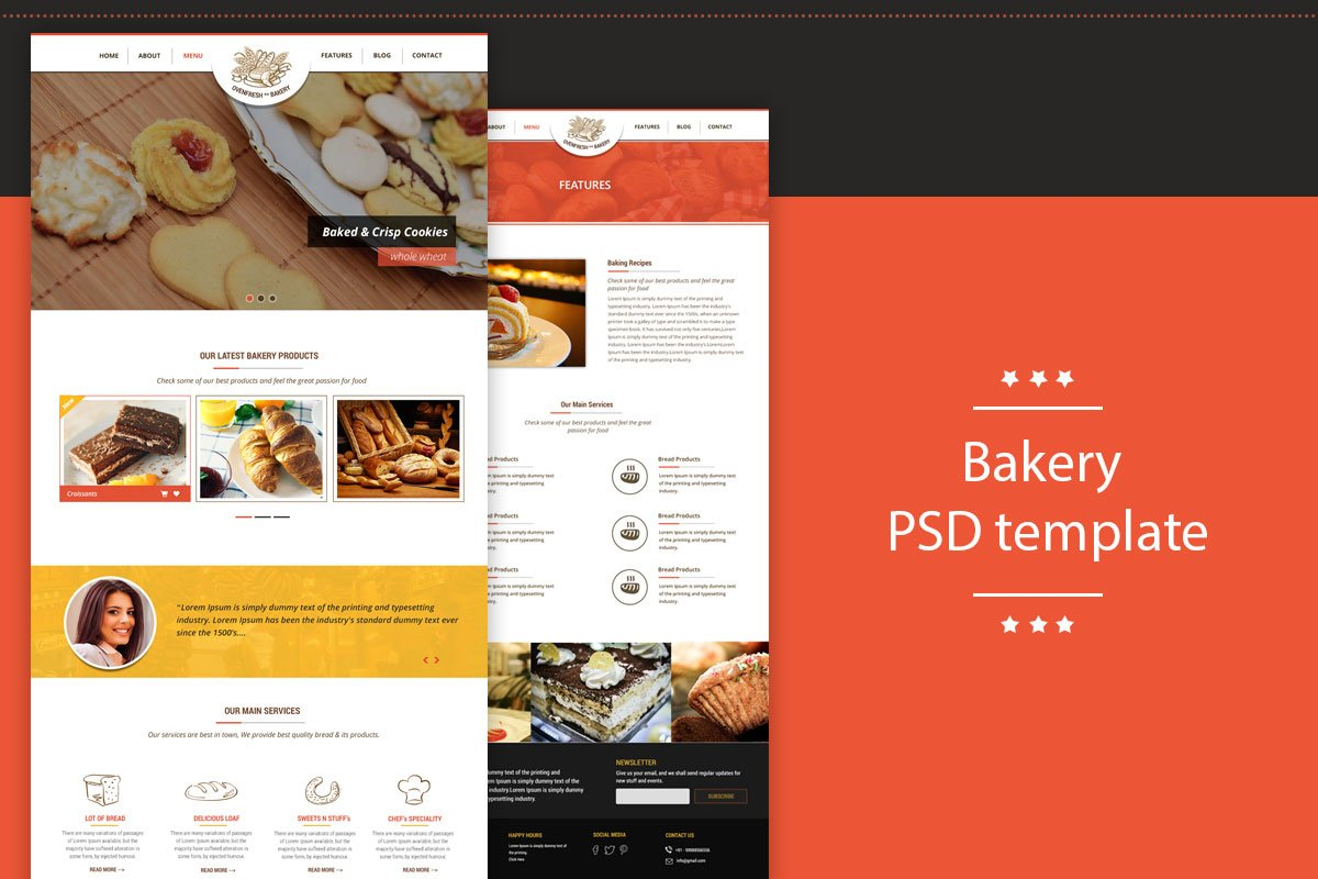 Free Bakery Template