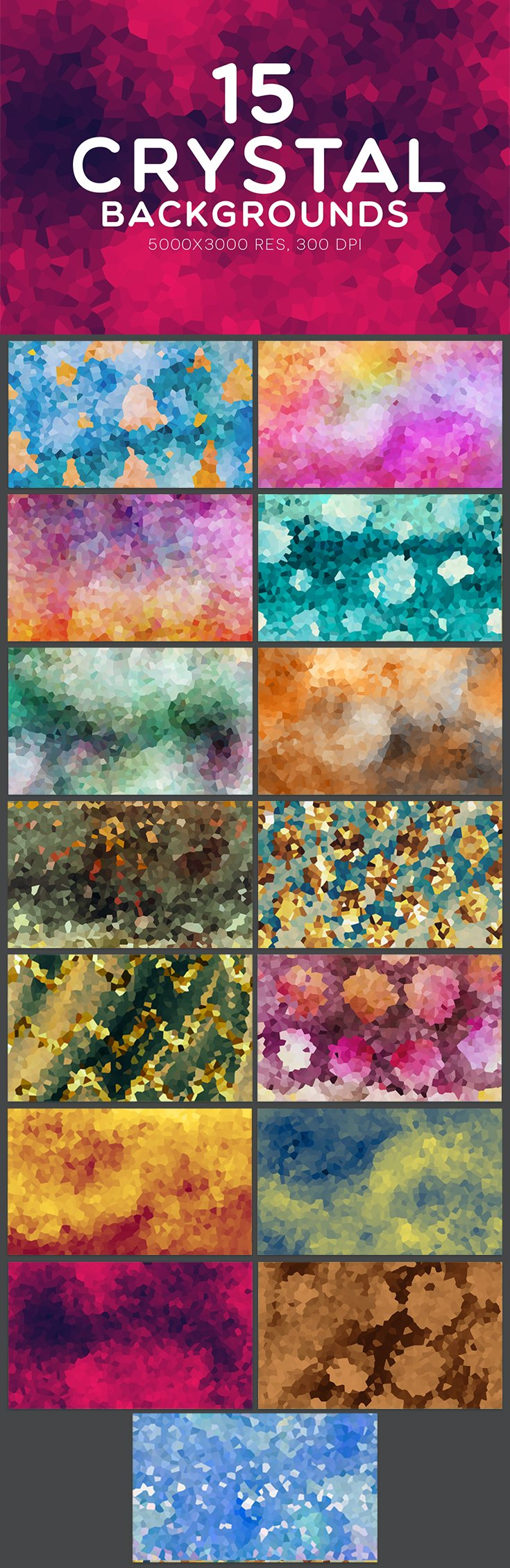 15 Free #Crystal #backgrounds collection is great for #print #paper products, #handmade #craft items, #web #design, scrap booking, etc. Enjoy them!