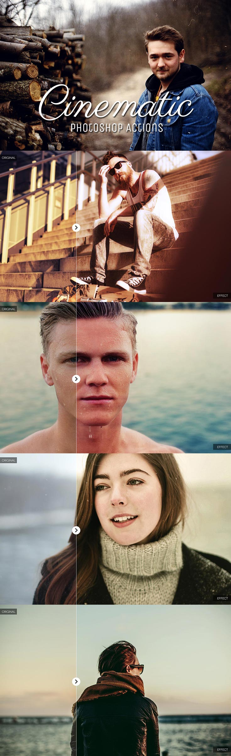 20 Free Cinematic Photoshop Action Ver. 2