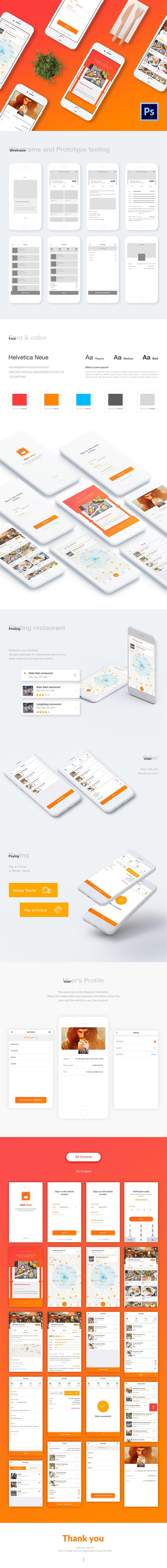 20 Free Cook Application Project PSD Template