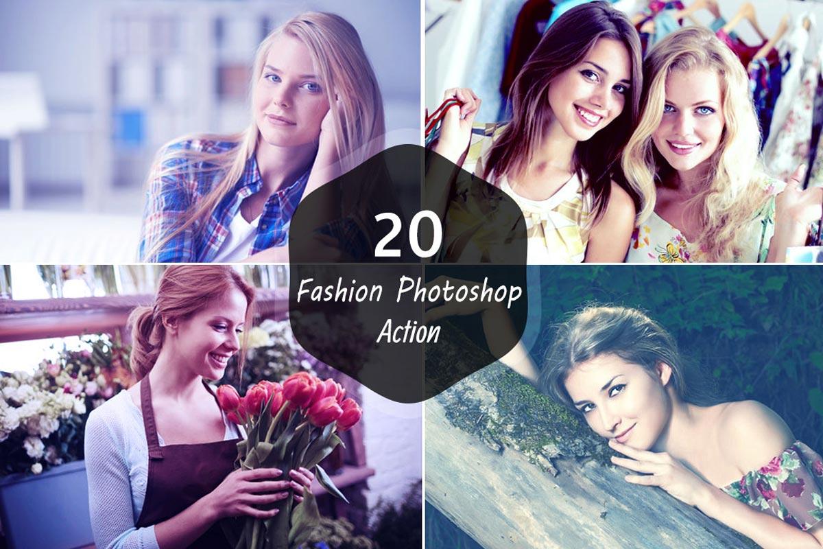 20 Free Fashion Photoshop Action