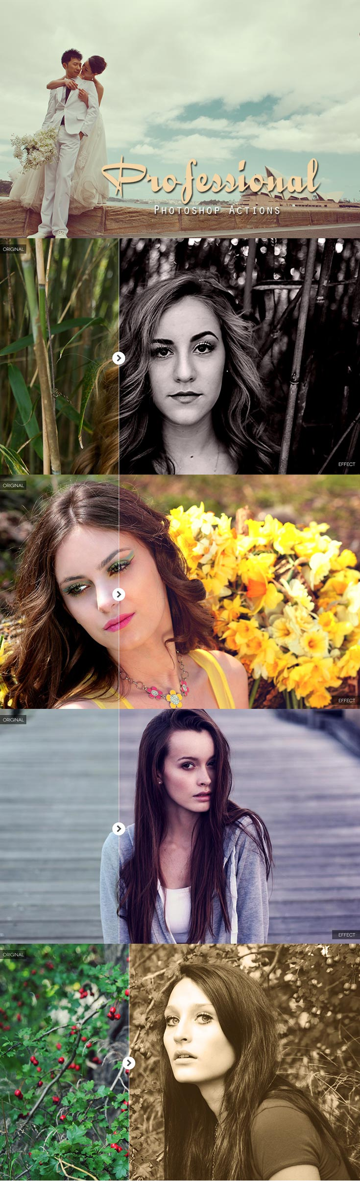 30 Free Professional Photoshop Actions