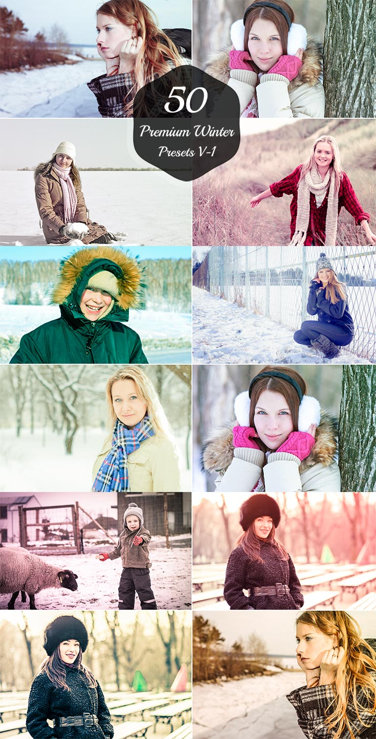 50 Free Winter Lightroom Presets Version 1 contain 50 best filters for your winter photography these filters makes your pics enhanced basically.