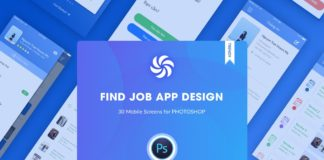 Free Find Job Application Design UI