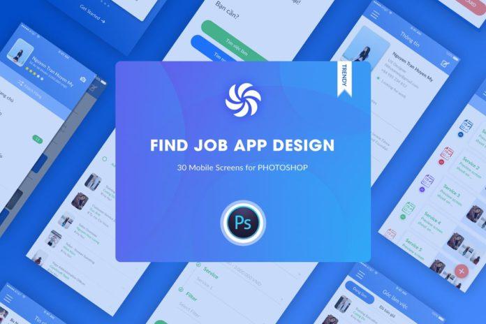 Free Find Job Application Design UI