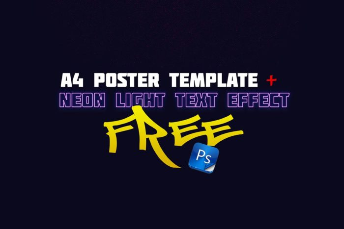 Poster Template Neon Text Effect