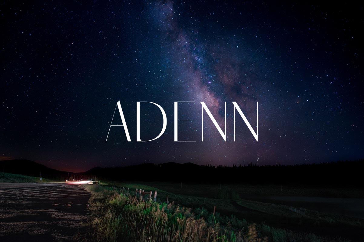 Free Adenn Sans Serif Font