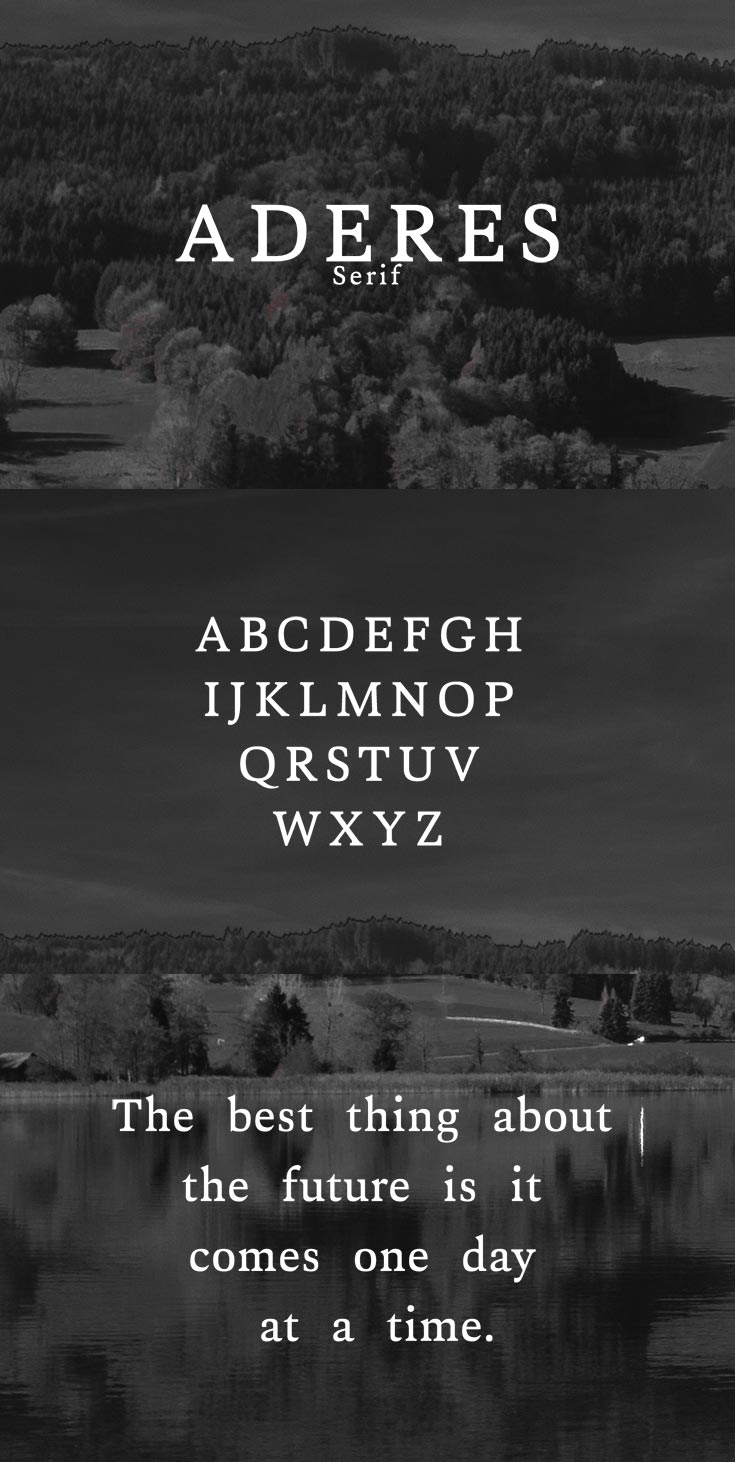 Free Aderes Serif Font