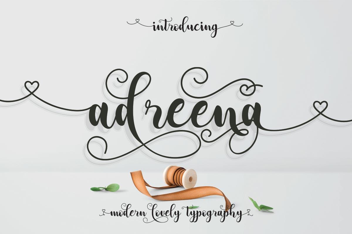 Free Adreena ScriptFont