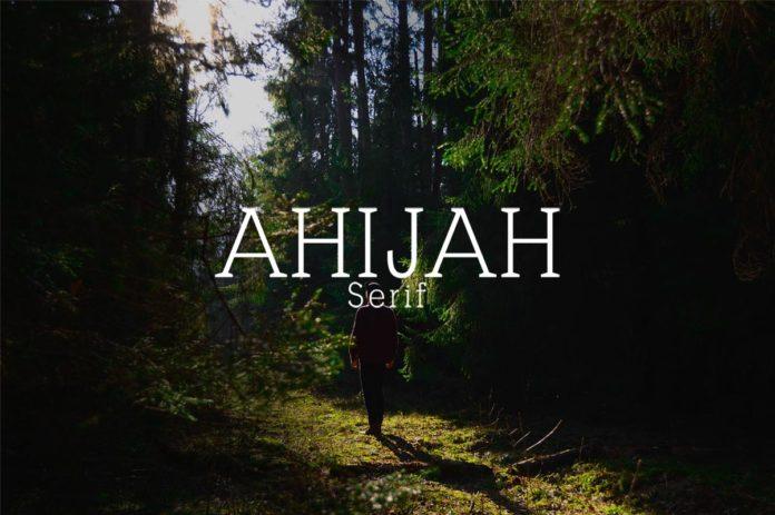 Free Ahijah Serif Font