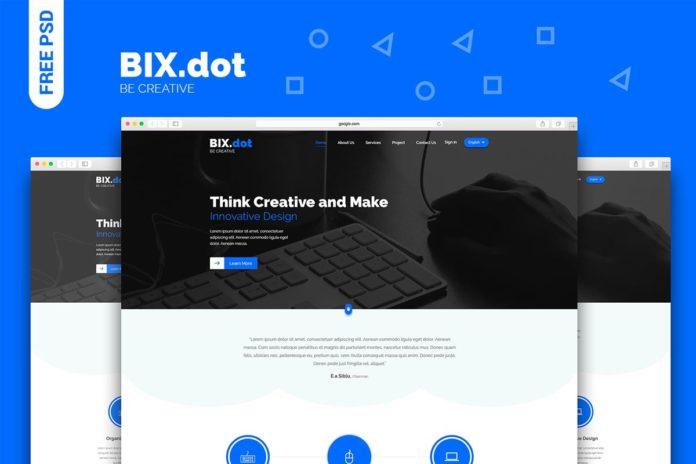 Free Bixdot Home Page PSD Template