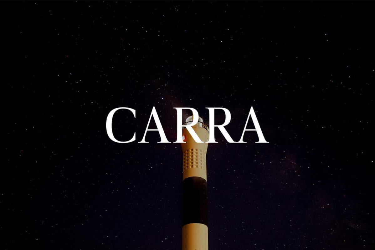 Free Carra Serif Font