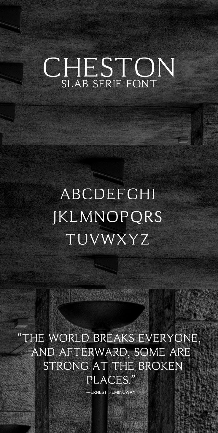 Free Cheston Slab Serif Font