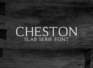 Free Cheston Slab Serif Font