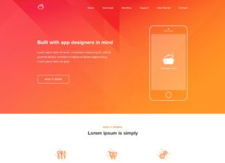 Free Cook Landing Page Project PSD