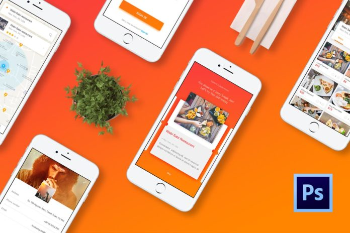 Free Cook Application 20 Screen PSD Template