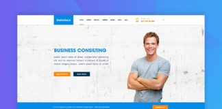 Free Datacloud Home Page Redesign PSD