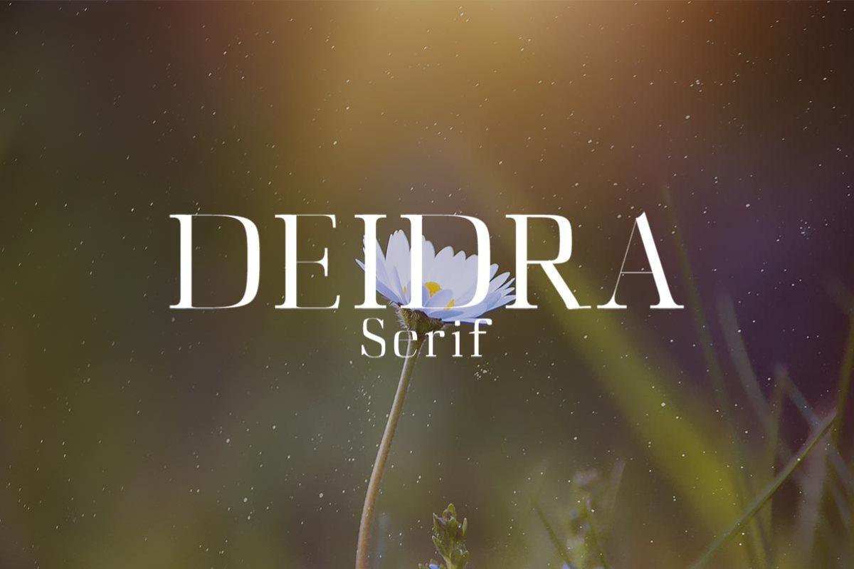 Free Deidra Serif Font