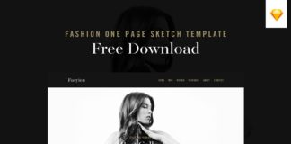 Free Fashion One Page Sketch Template