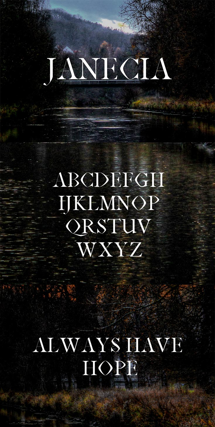 Free Janecia Serif Font
