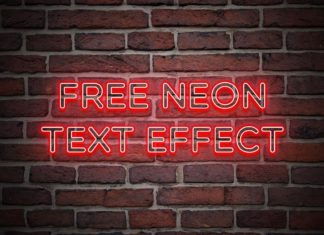 Free Neon PSD Text Effect