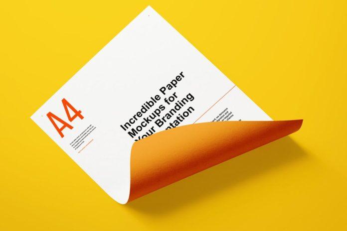 Free Paper Branding Mockup