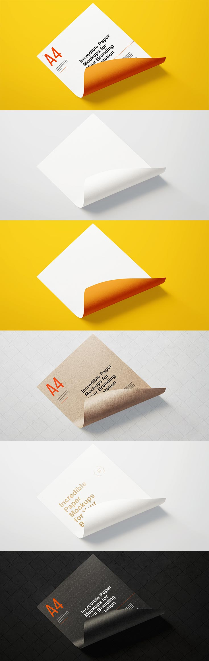 Free Paper Branding Mockup! A powerful tool for presenting your branding projects for Photoshop.
