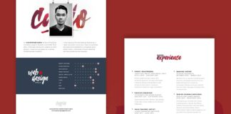 Free My Resume PSD Template