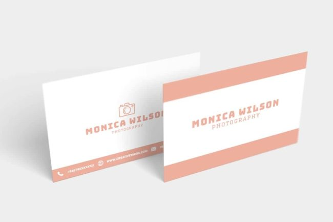 Free Simple Photography Business Card