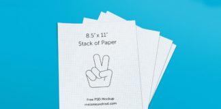 Free Stack Paper PSD Mockup