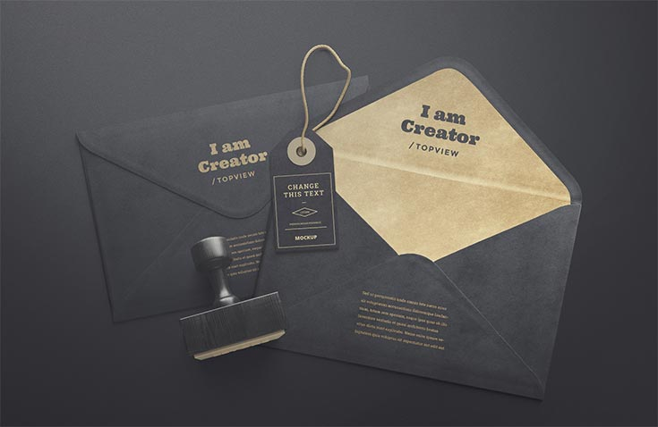 Free Styish Envelopes and Tag Mockups for your branding presentations. All items are isolated so you can easliy change composition of it.