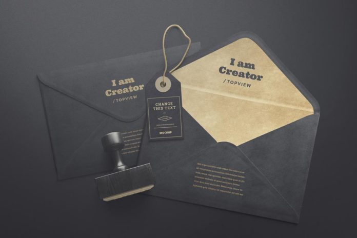 Free Styish Envelopes Tag Mockups