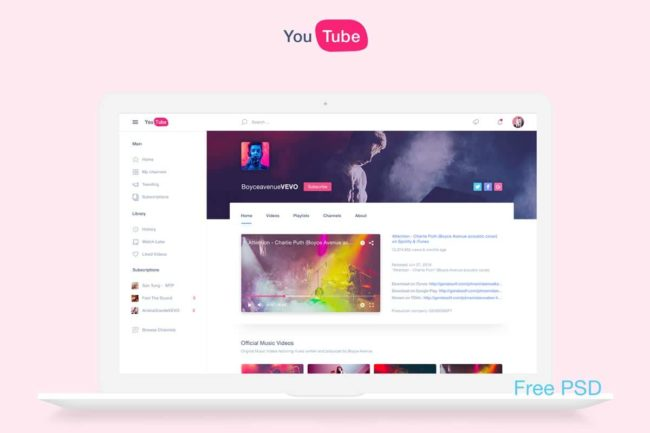 Free YouTube Redesign Template