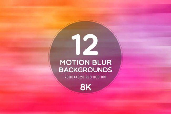 12 Free Motion Blur 8K Backgrounds
