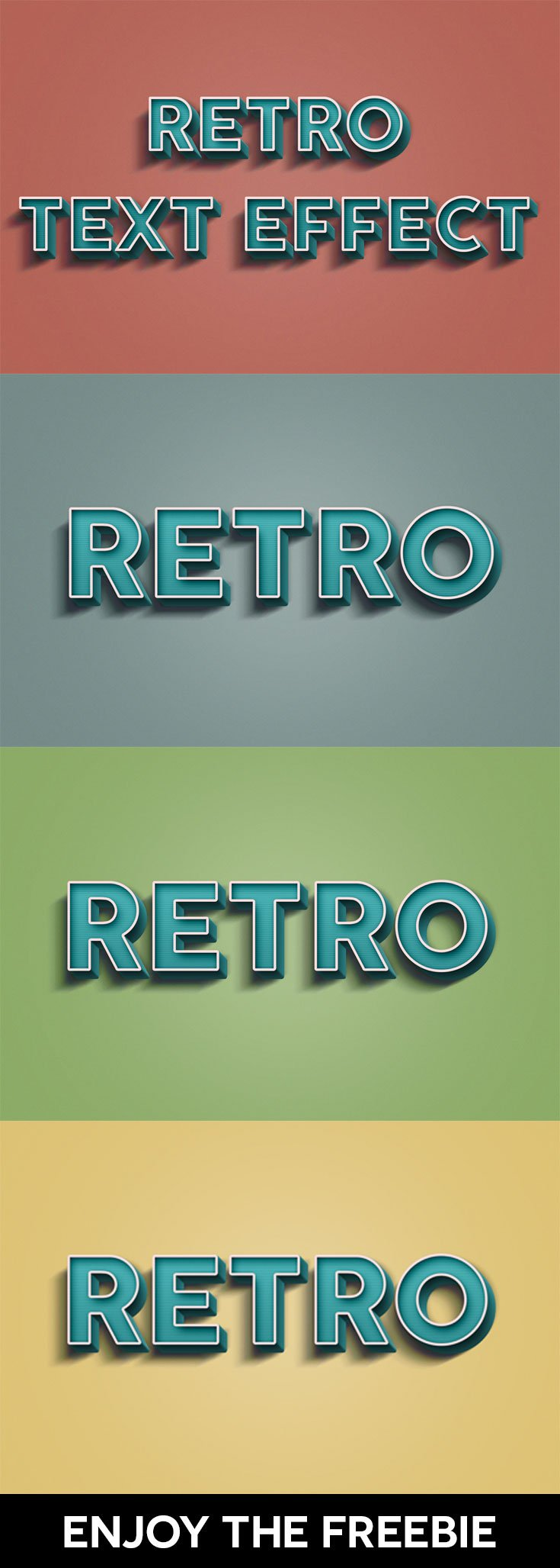 Free Retro PSD Text Effect
