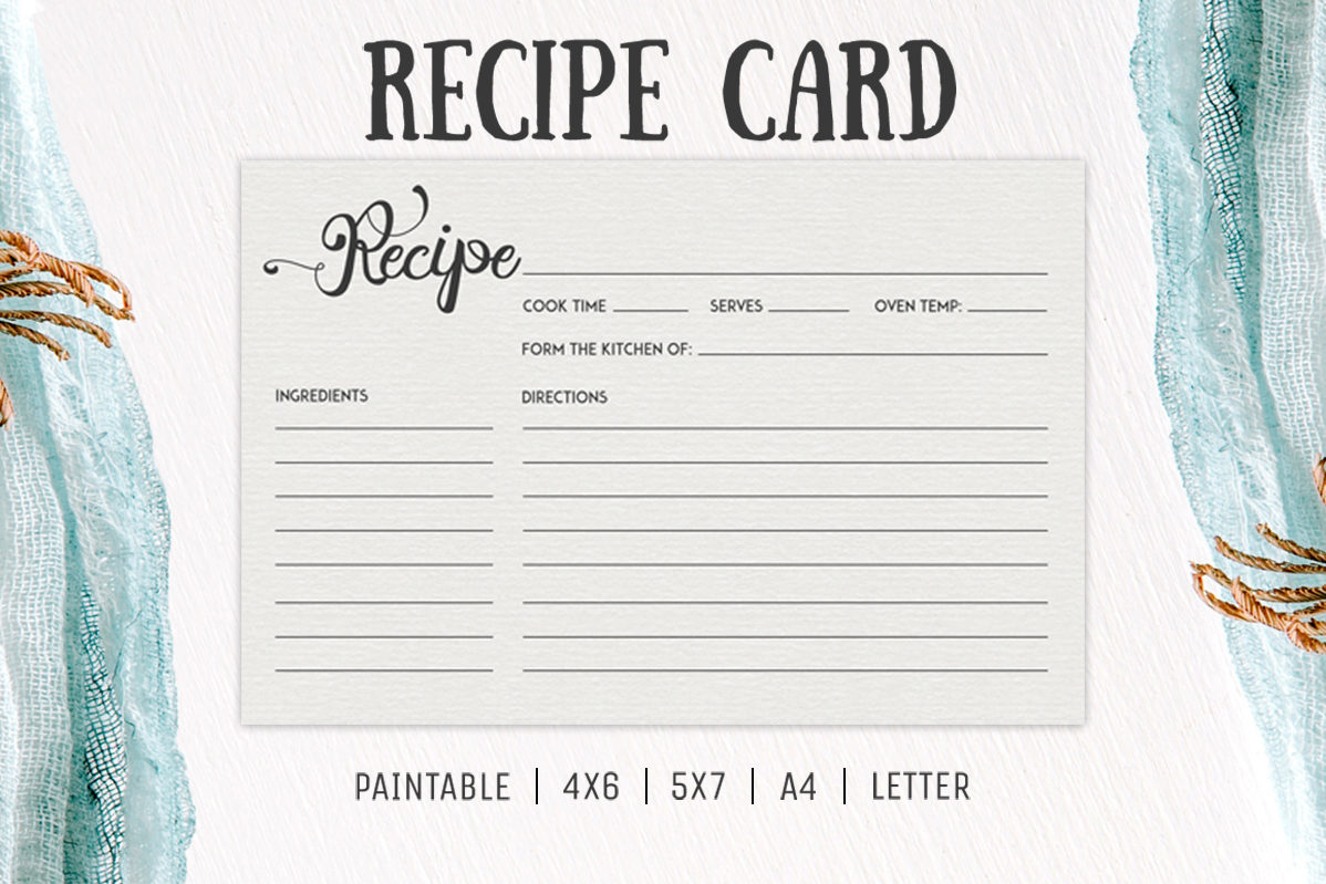 free cooking recipe card template rc2 � creativetacos