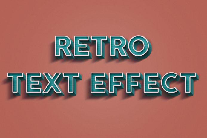 Free Retro Text Effect