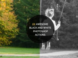 22 Black White Photoshop Actions