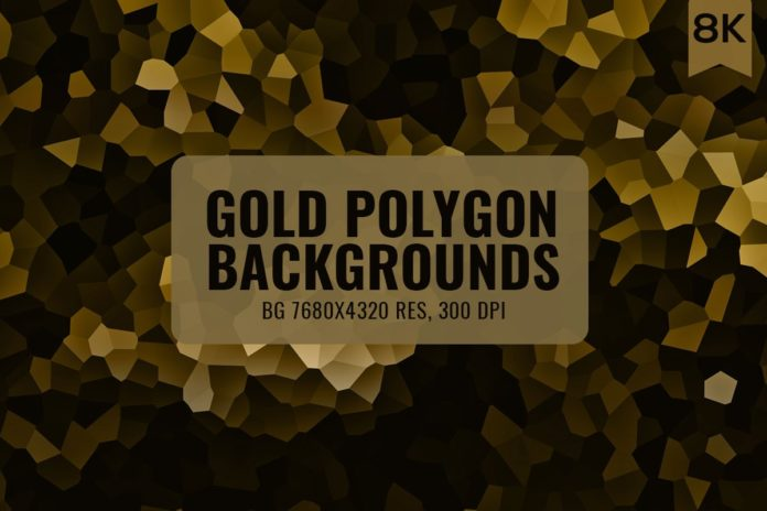 12 Free Gold Polygon Backgrounds
