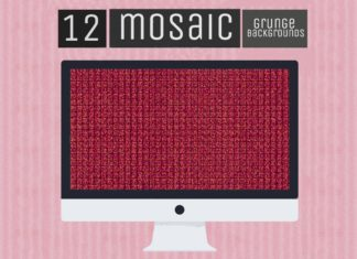 12 Free Mosaic Grunge Backgrounds