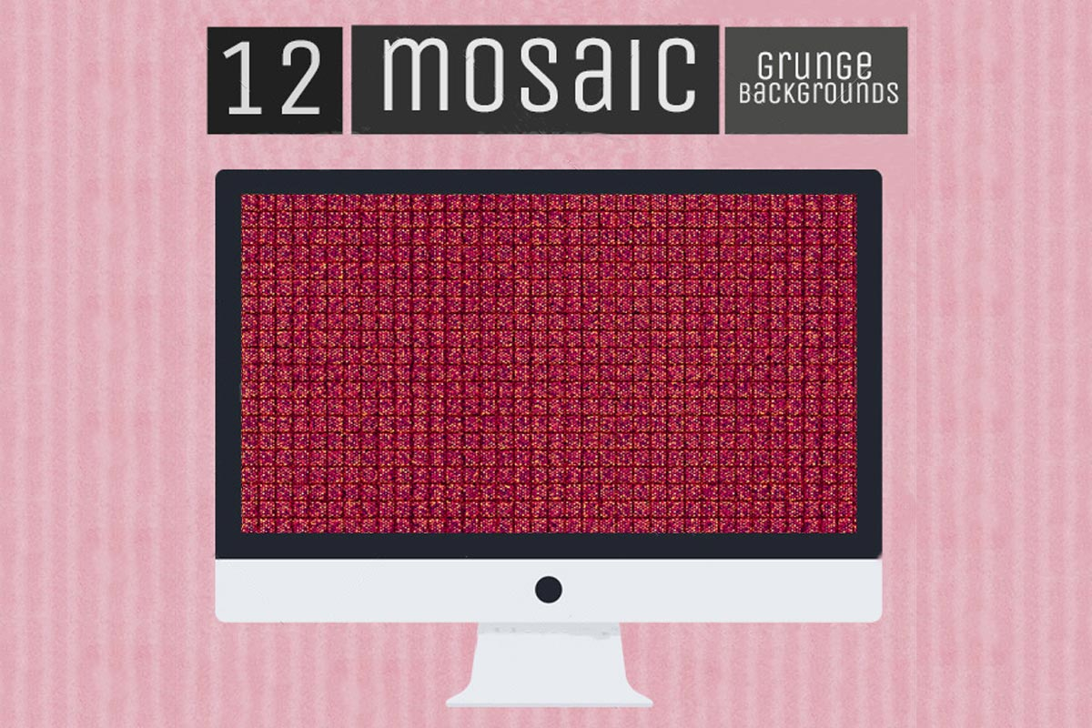 12 Free Mosaic Grunge Backgrounds