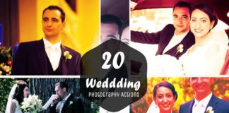 20 Free Wedding Photoshop Actions Ver 2