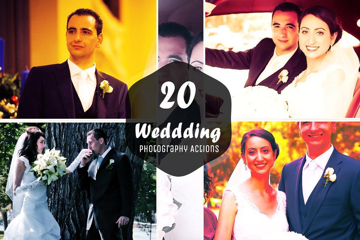 20 Free Wedding Photoshop Actions Ver 2