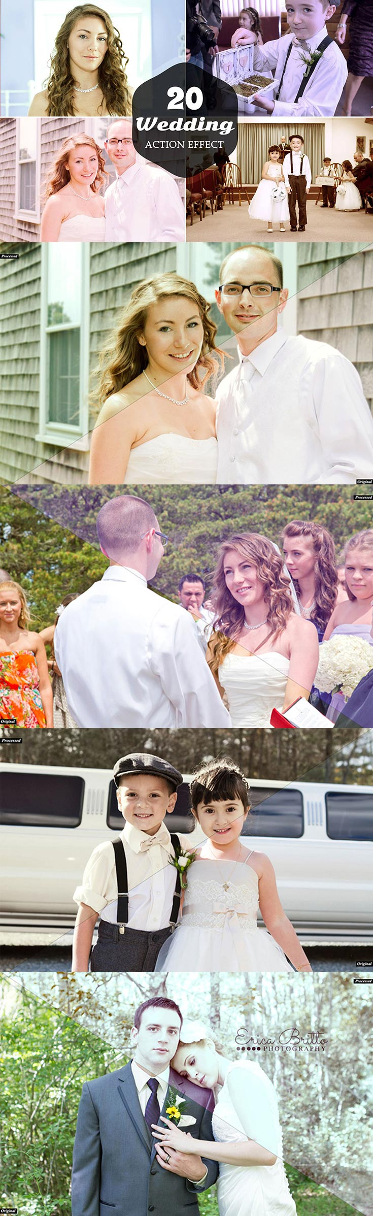 20 Free Wedding Photoshop Actions Ver. 1