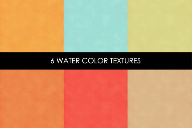 6 Water Color Textures